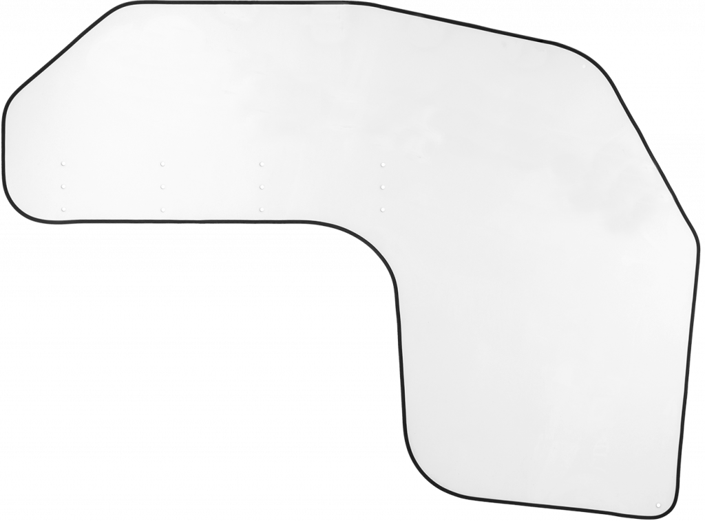 Driver Protective Shield from the front